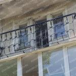 Дутый кованый металлический балкон Владивосток