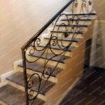 Кованая лестница в доме Владивосток