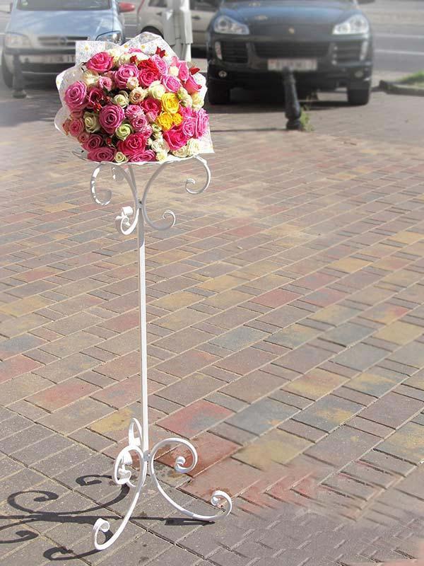 Свадебные стойки для цветов своими руками 87