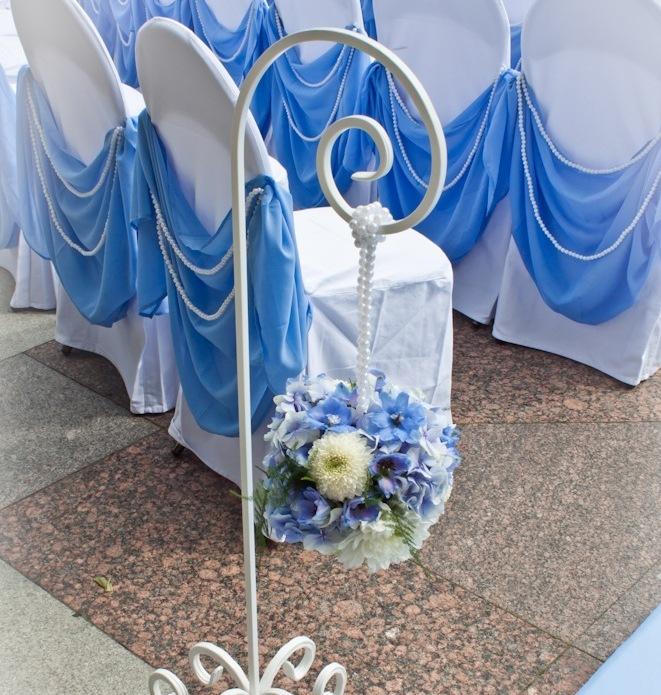 Свадебные стойки для цветов своими руками 32
