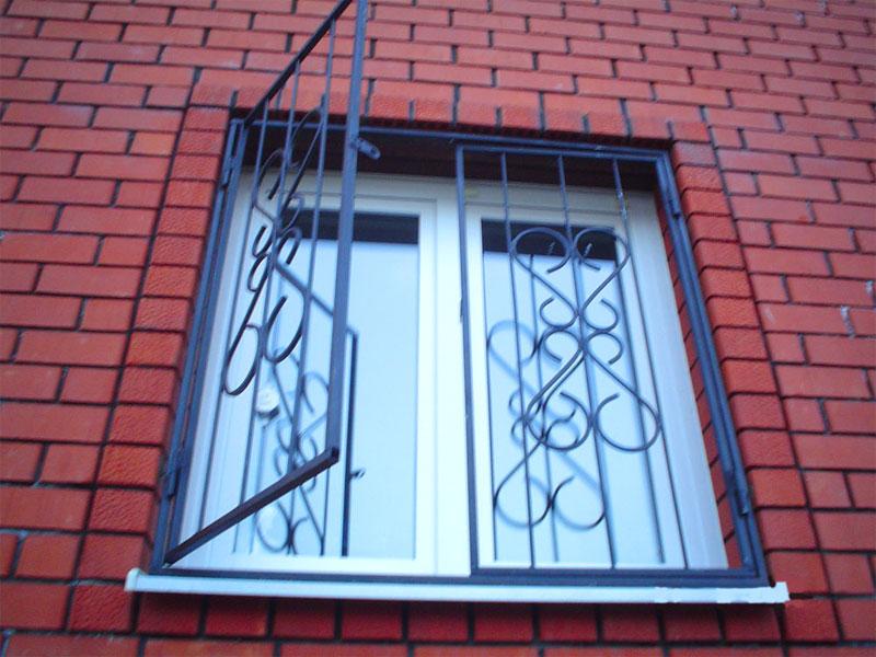 металлические сварные и распашные решётки на окна