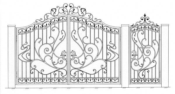 Эскизы ворот своими руками