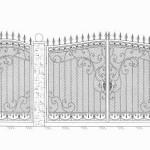 Эскизы кованых ворот Владивосток