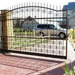Откатные кованые ворота Владивосток