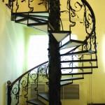 Кованая винтовая лестница Владивосток