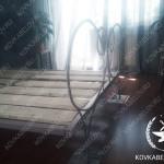 Белая кованая кровать в квартире г. Владивосток