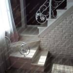 Кованые лестничные ограждения и перила в загородном доме район Садгород (Владивосток)