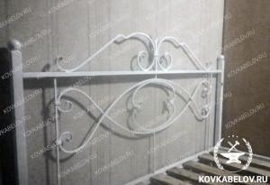 Белая кованая кровать Владивосток