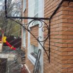 Черное кованое крыльцо район седанка Владивосток