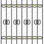 Эскизы кованых решеток на окна Владивосток