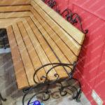 Черная кованая скамейка Владивосток
